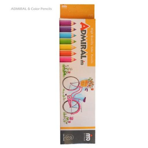 مداد رنگی 6 رنگ (ادمیرال 2 بسته) ADMIRAL- باسلام