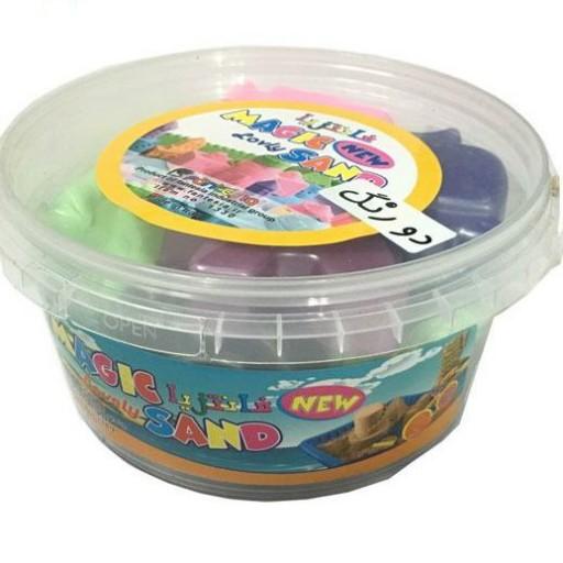 شن جادویی سطلی دو رنگ مجیک سند Magic sand- باسلام
