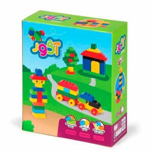 بازی لگو ساختنی قطعه درشت آگور 75 قطعه بافرزندان   آگور در زبان فارسی به معنای آجر است- باسلام