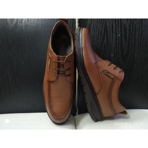 کفش مردانه چرم طبیعی گواشیر طرح گوچی- باسلام