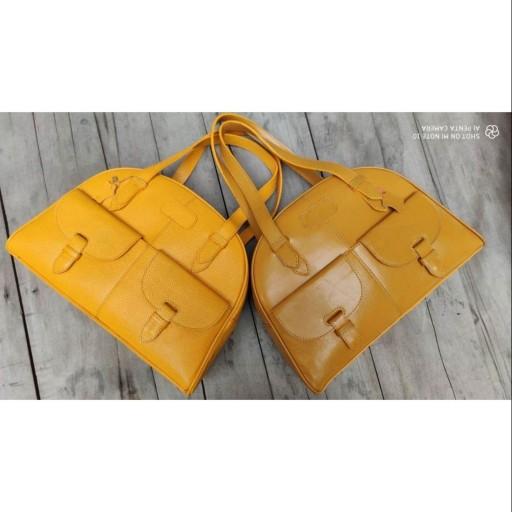 کیف زنانه تمام چرم طبیعی گواشیر  طرح یاس- باسلام