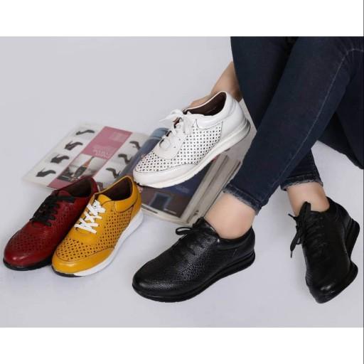 کفش کتونی اسپرت چرم طبیعی گواشیر طرح ستاره- باسلام