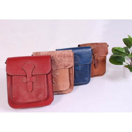 کیف تمام چرم طبیعی گواشیر طرح ماهان- باسلام
