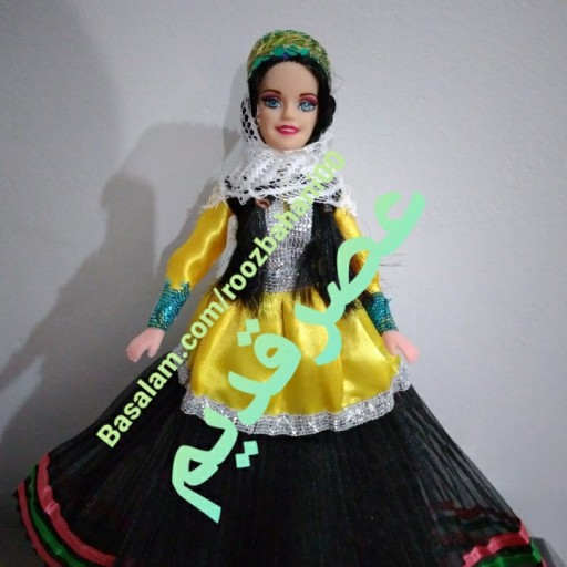 عروسک زیبا طرح سنتی(عصرقدیم عروسک)- باسلام