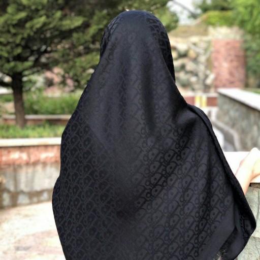 روسری نخی مشکی- باسلام
