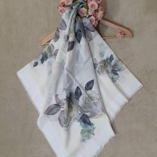 روسری نخی ریشه پرزی گل های بهاری- باسلام
