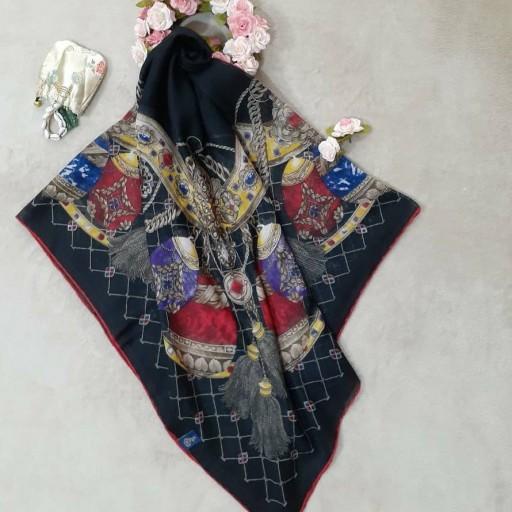 روسری نخی بهاره طرح زنجیری- باسلام