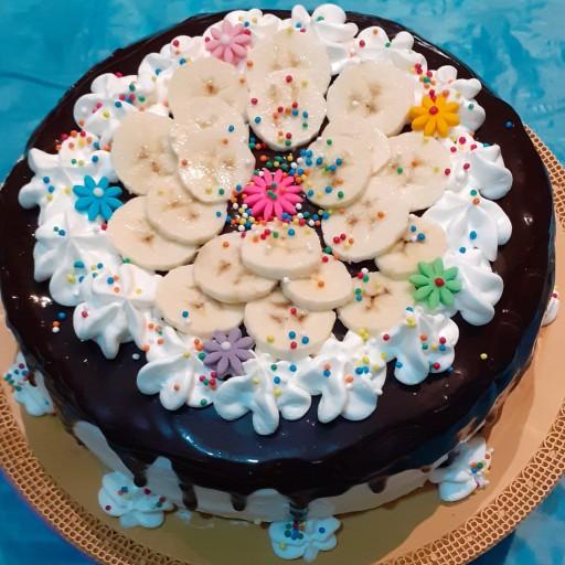 کیک خامه ای ساده 1500 گرمی- باسلام