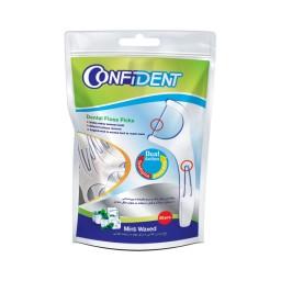 نخ دندان و خلال دندان کانفیدنت بسته 50 عددی