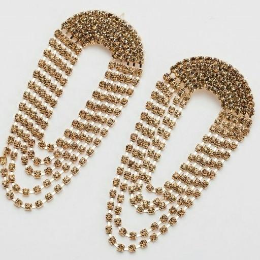 گوشواره های کریستالی دستساز- باسلام