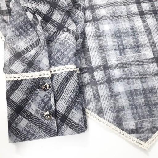 ست ساق دست و روسری نخی ( عرض 120 )- باسلام