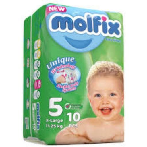 پوشک کامل بچه مولفیکس ده عددی سایز5- باسلام