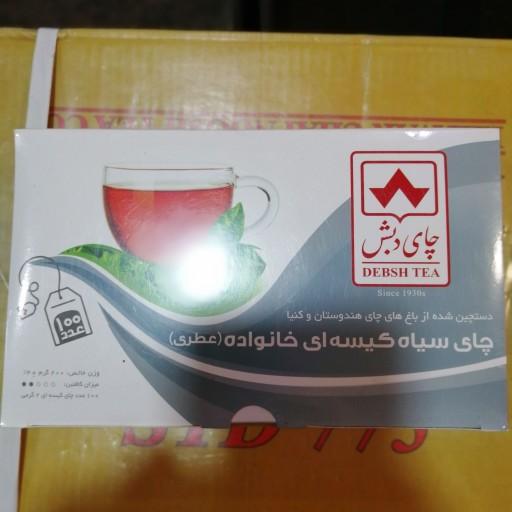 چای سیاه کیسه ای عطری دبش 100تایی آقای عطار- باسلام